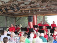 Unforgettable Big Band performs at Brown's Orchards